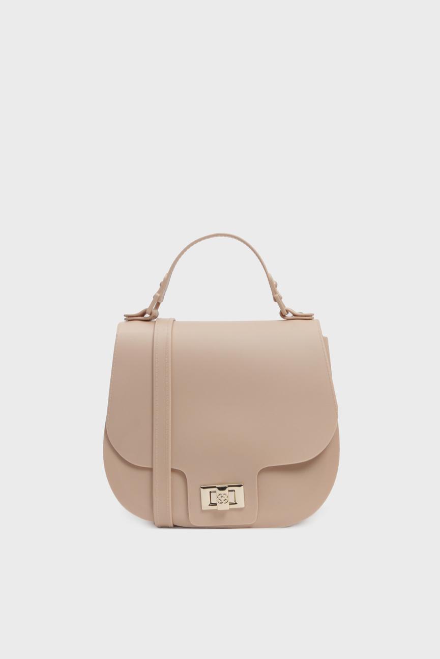 Женская бежевая сумка через плечо SADDLE BAG