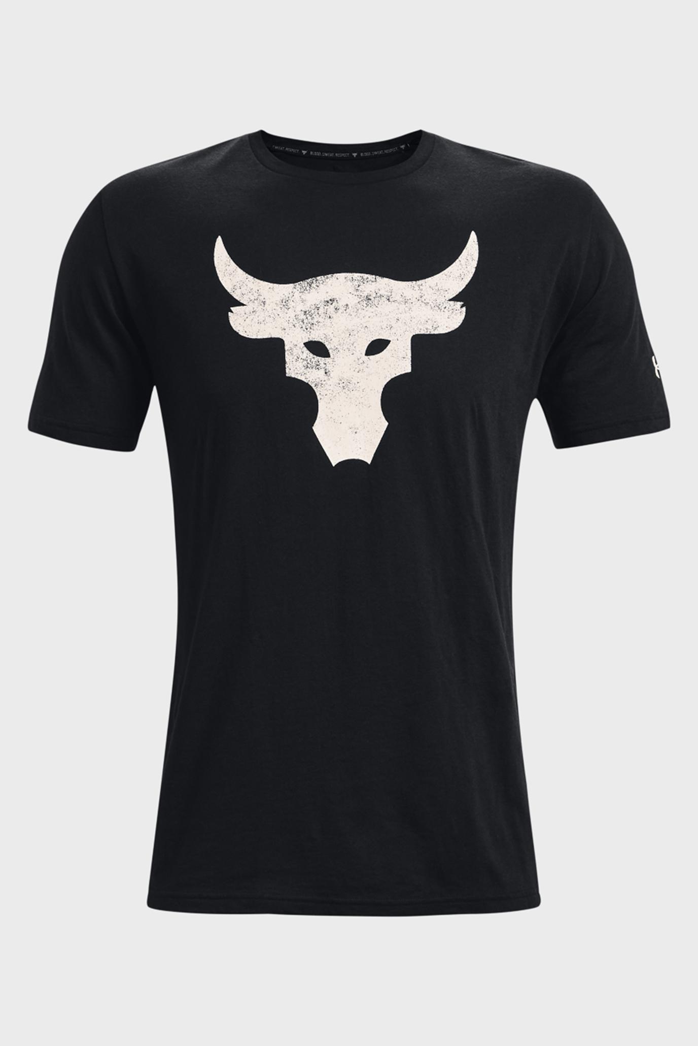 Мужская черная футболка UA Pjt Rock Brahma Bull 1
