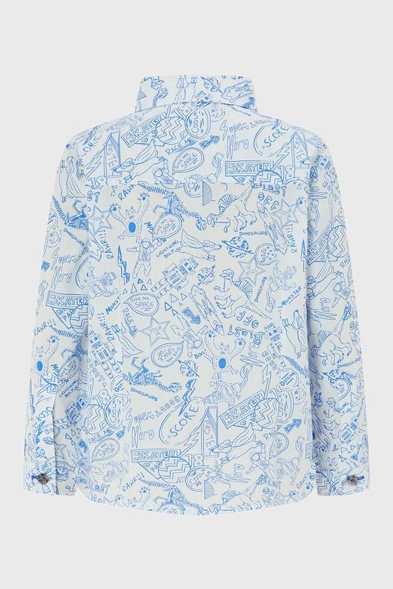 Детская голубая рубашка Daniel