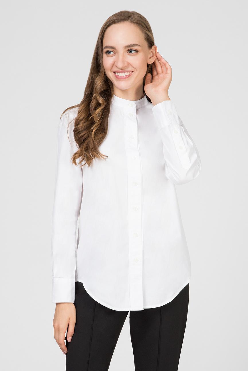 Женская белая рубашка OXFORD PLACKET DETAIL