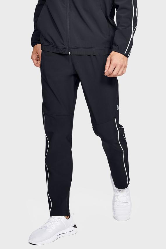 Мужские черные спортивные брюки Athlete Recovery Woven Warm Up Bottom