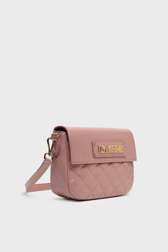 Женская пудровая сумка через плечо