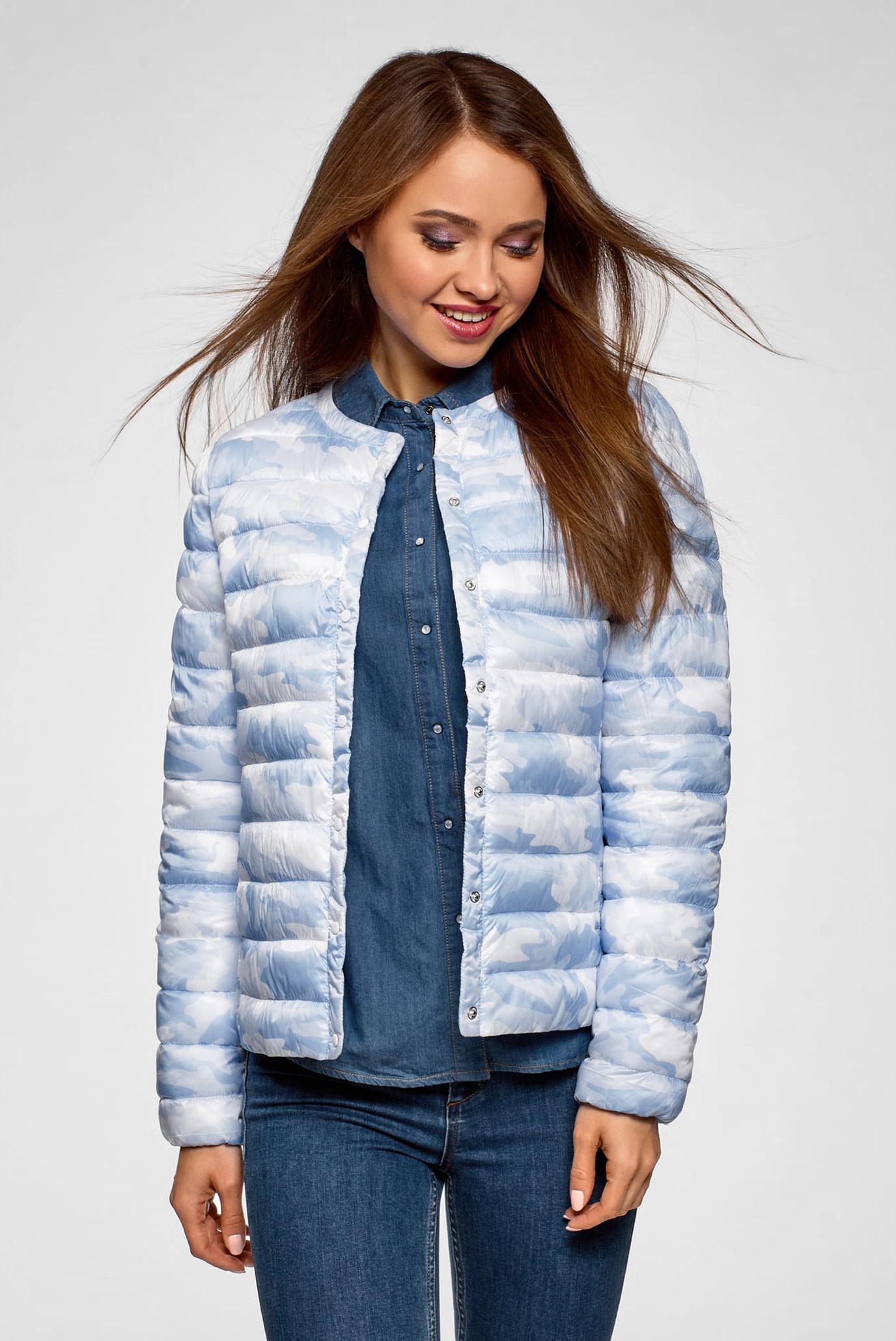 b5e3fd68507 Купить Женская голубая куртка Oodji Oodji 10204040-1B 42257 7080O – Киев