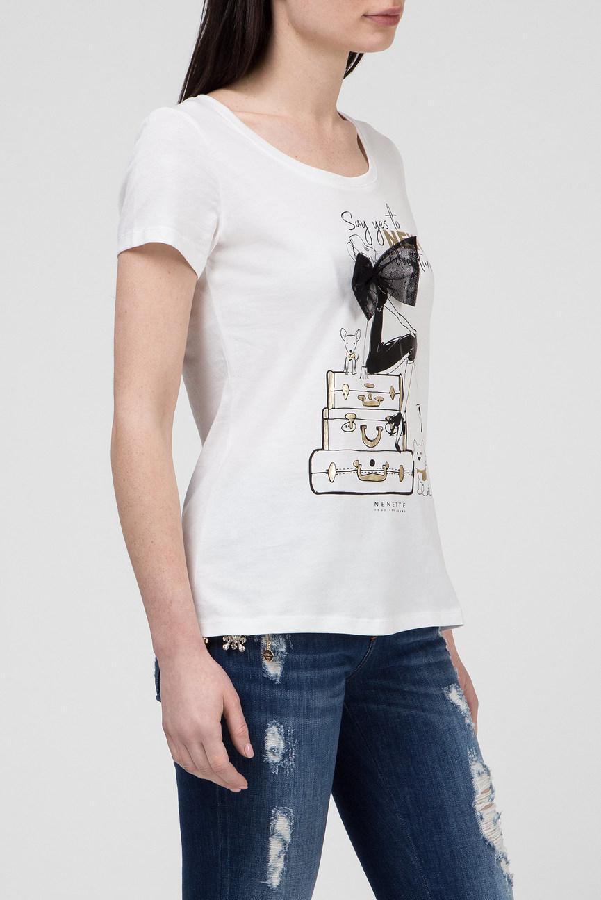 Женская белая футболка DOENEY