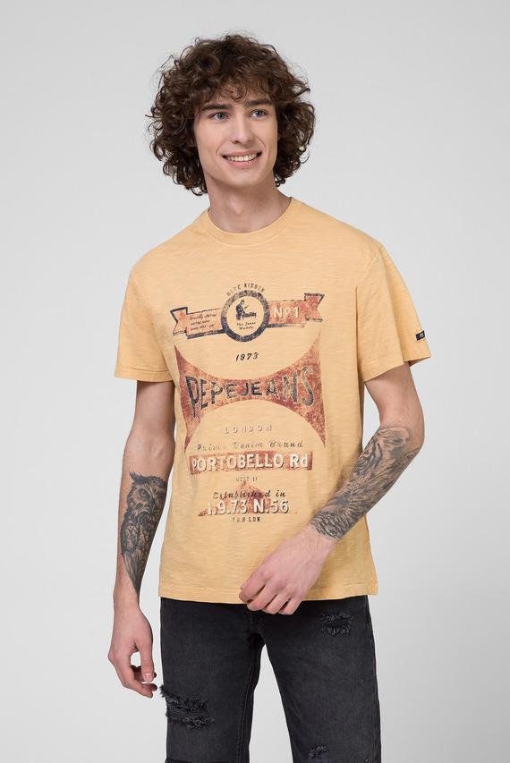 Мужская желтая футболка с принтом HARVEY