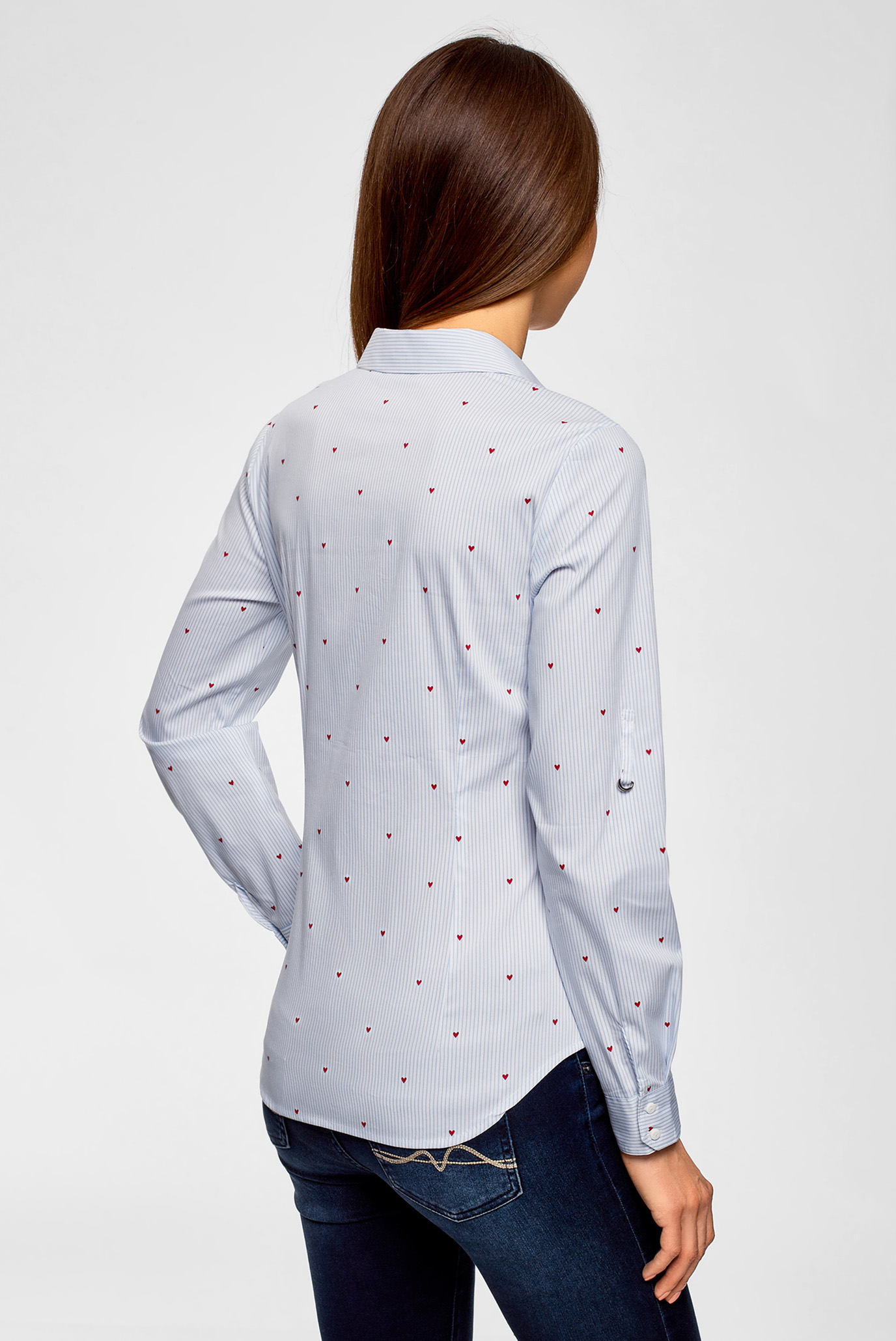 Купить Женская белая блуза с принтом Oodji Oodji 13K03002-3B/45202/1075O – Киев, Украина. Цены в интернет магазине MD Fashion