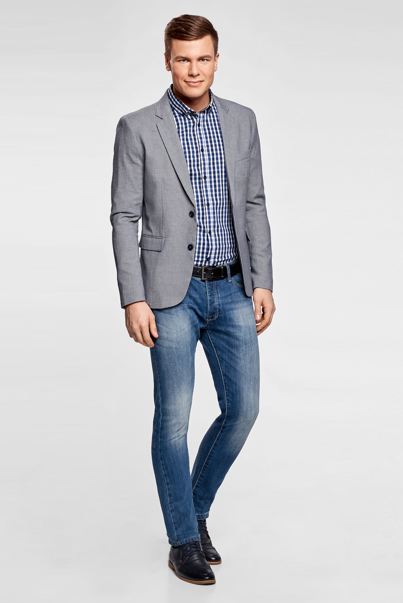 Купить Мужской темно-синий пиджак Oodji Oodji 2L420190M/46516N/7910J – Киев, Украина. Цены в интернет магазине MD Fashion