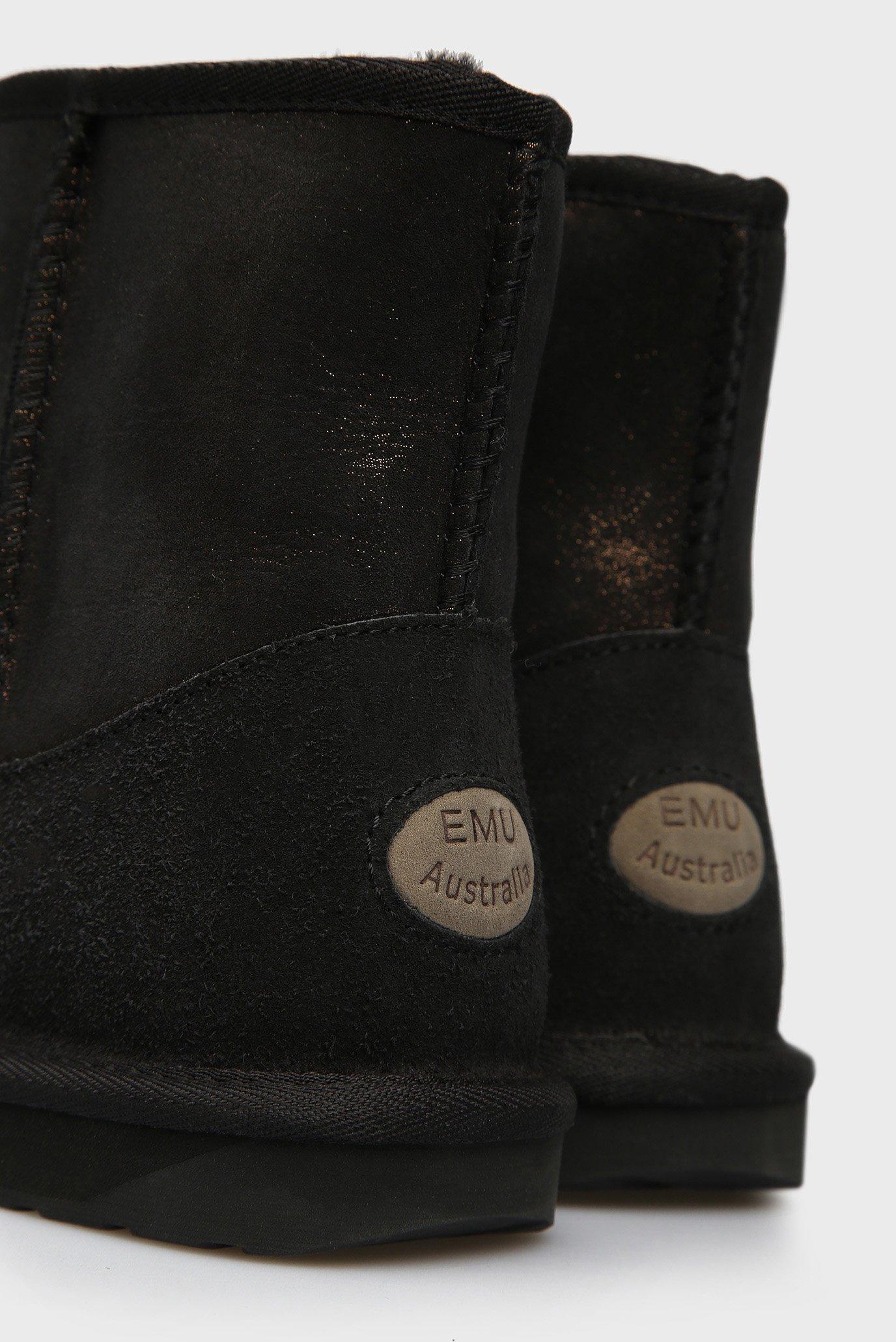 Женские черные замшевые угги Stinger Metallic Mini EMU Australia
