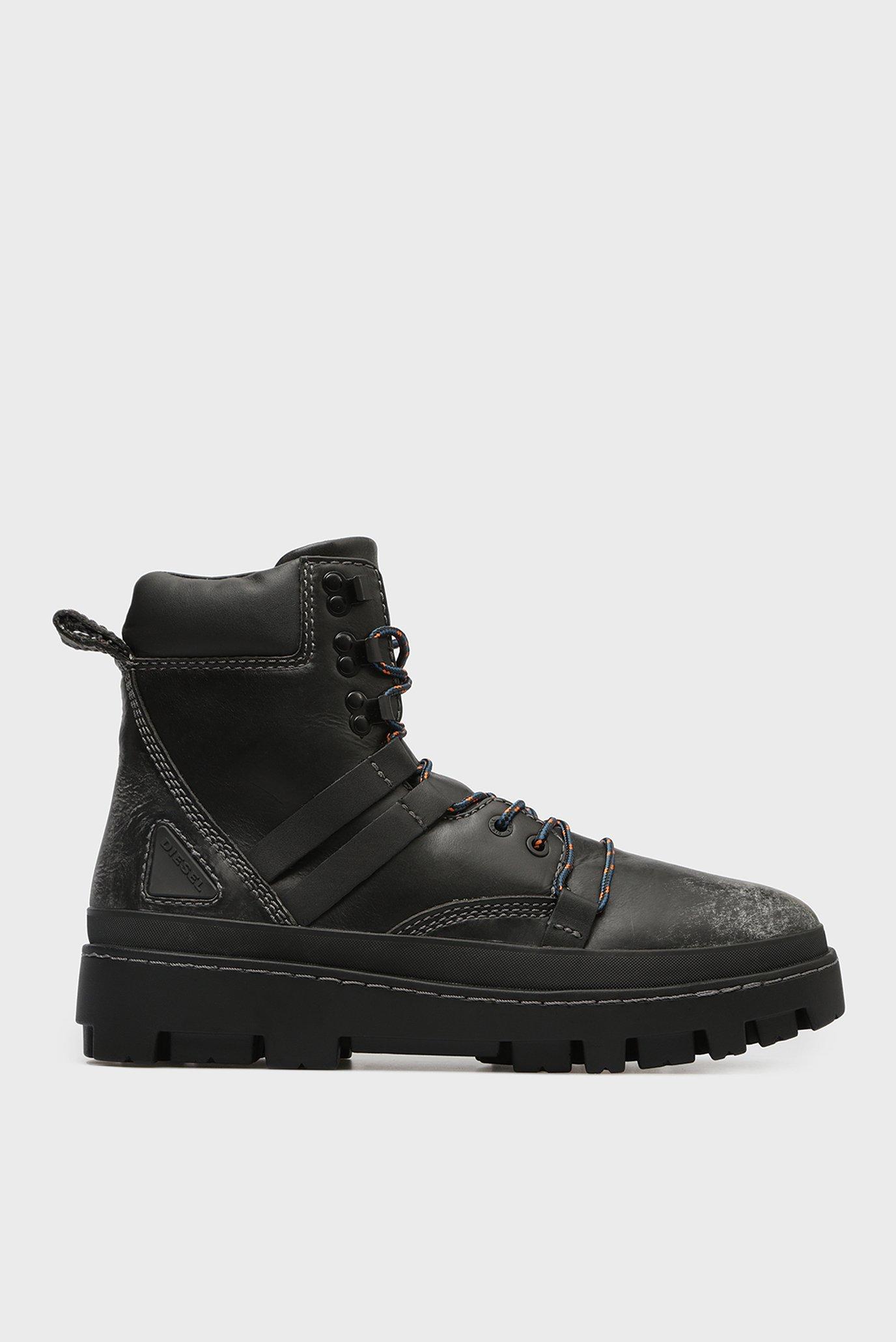 Купить Мужские черные кожаные ботинки 80S VIBE Diesel Diesel Y01818 P0134 – Киев, Украина. Цены в интернет магазине MD Fashion