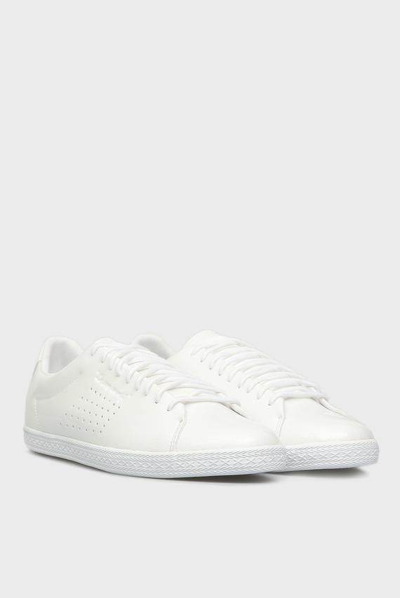 Женский белые кожаные кеды