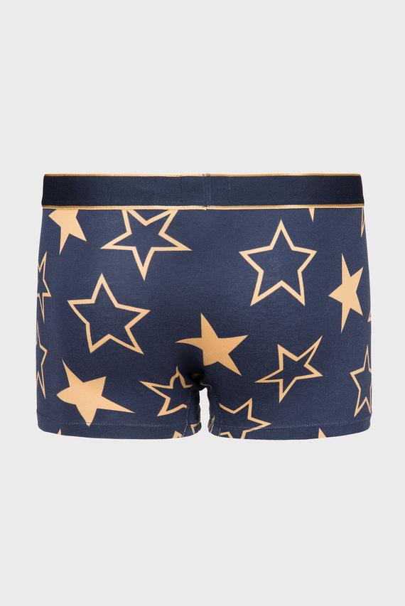 Мужские синие боксерыTRUNK GOLDEN STARS