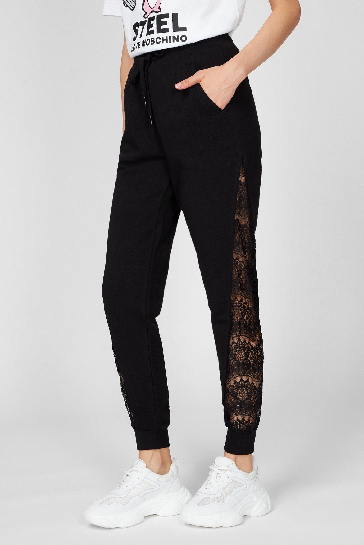 Женские черные спортивные брюки Love Moschino