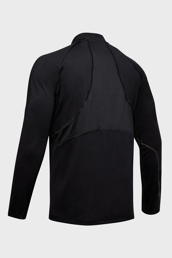 Мужская черная спортивная кофта RUSH RUN COLDGEAR HALF ZIP
