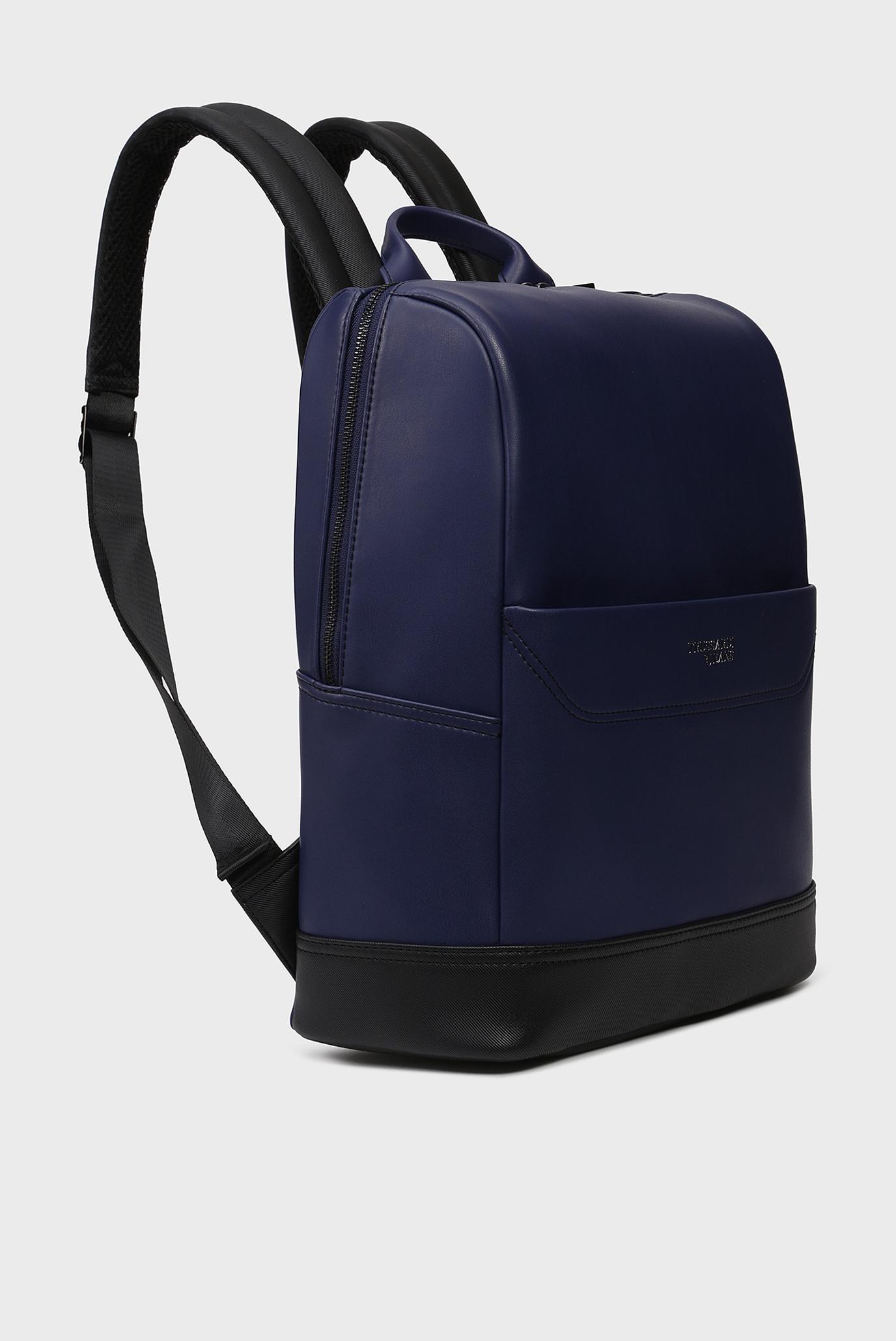 Мужской синий рюкзак BUSINESS CITY  Trussardi Jeans