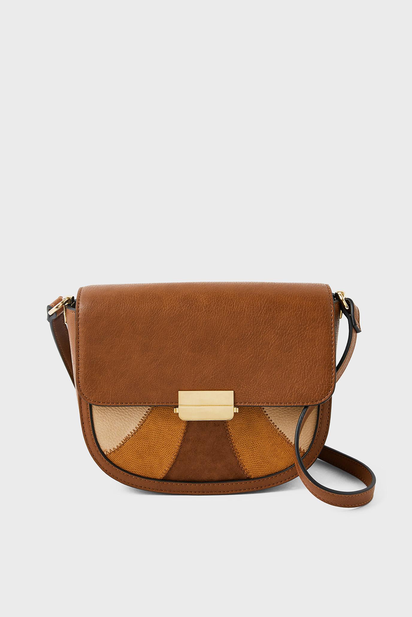 Женская коричневая сумка ELOISE PATCHWORK XBO 1