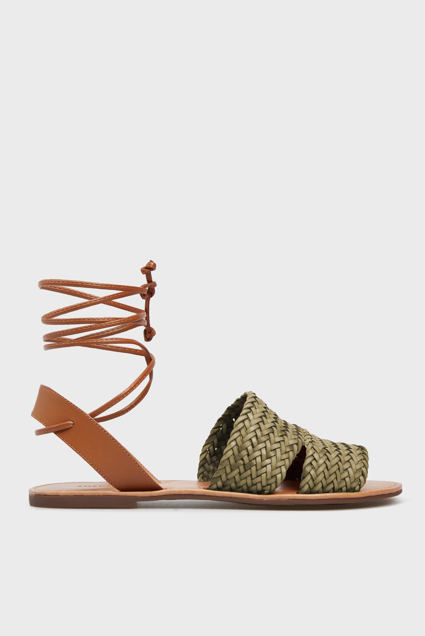 Женские зеленые сандалии 1