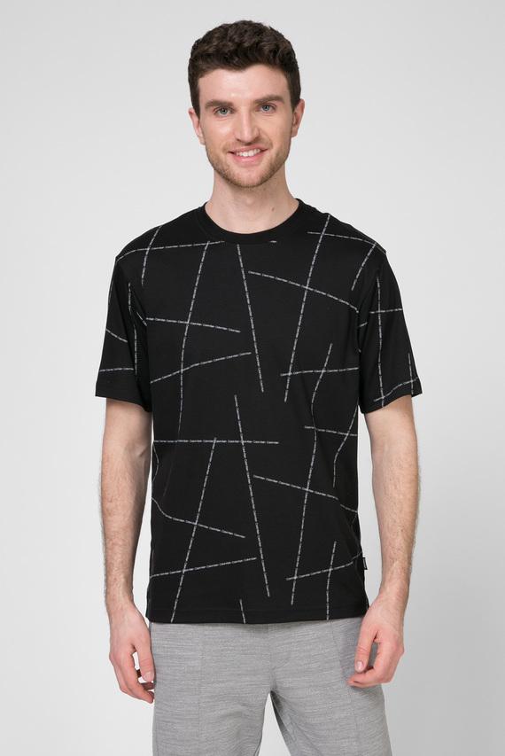 Мужская черная футболка RELAX