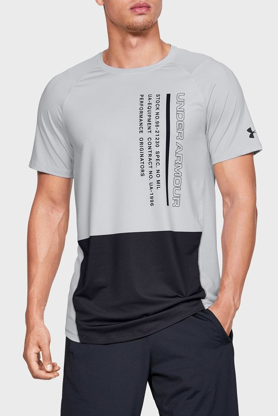Мужская серая футболка MK1 SS Colorblock
