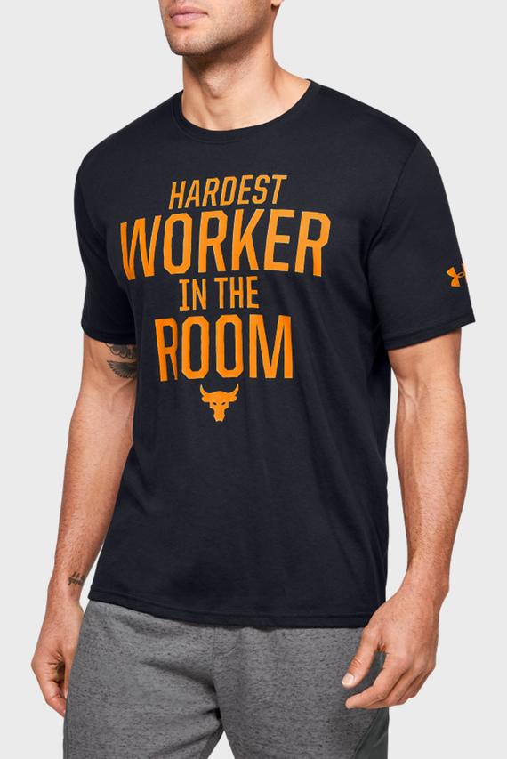Мужская черная футболка Project Rock HWITR SS-BLK