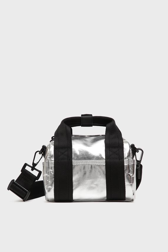 Женская серебристая сумка через плечо BOLDMESSAGE / F-BOLD