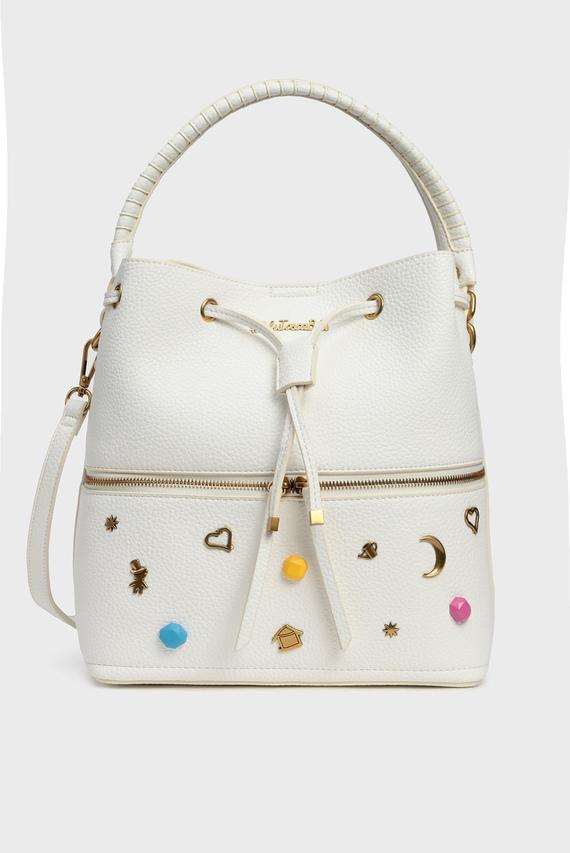 Женская белая сумка через плечо ARMY