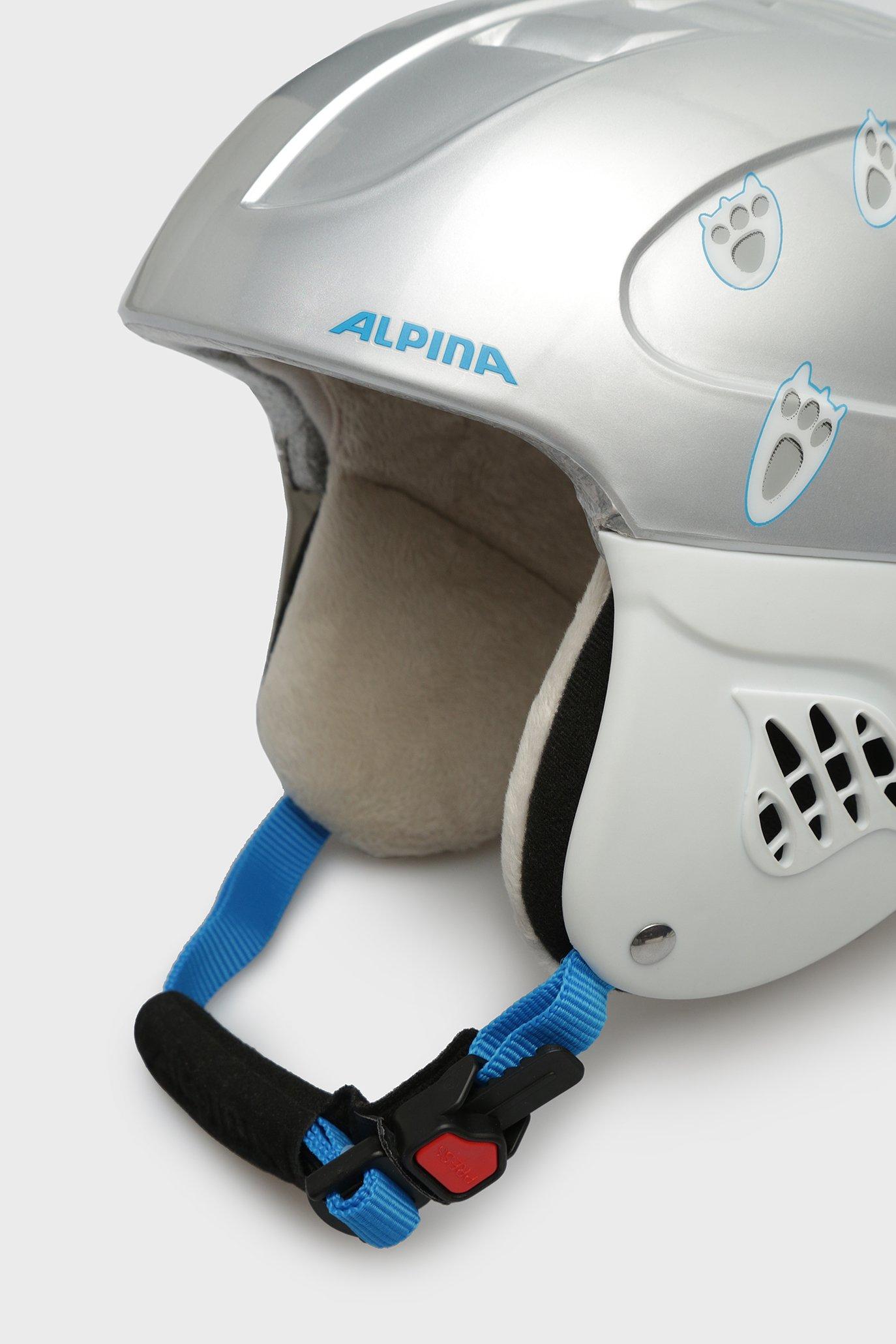Детский серебристый горнолыжный шлем Carat Alpina