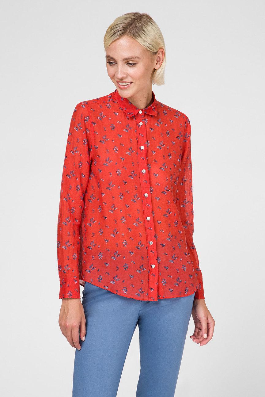 Женская красная блуза TP SOLID BELTED BLOUSE