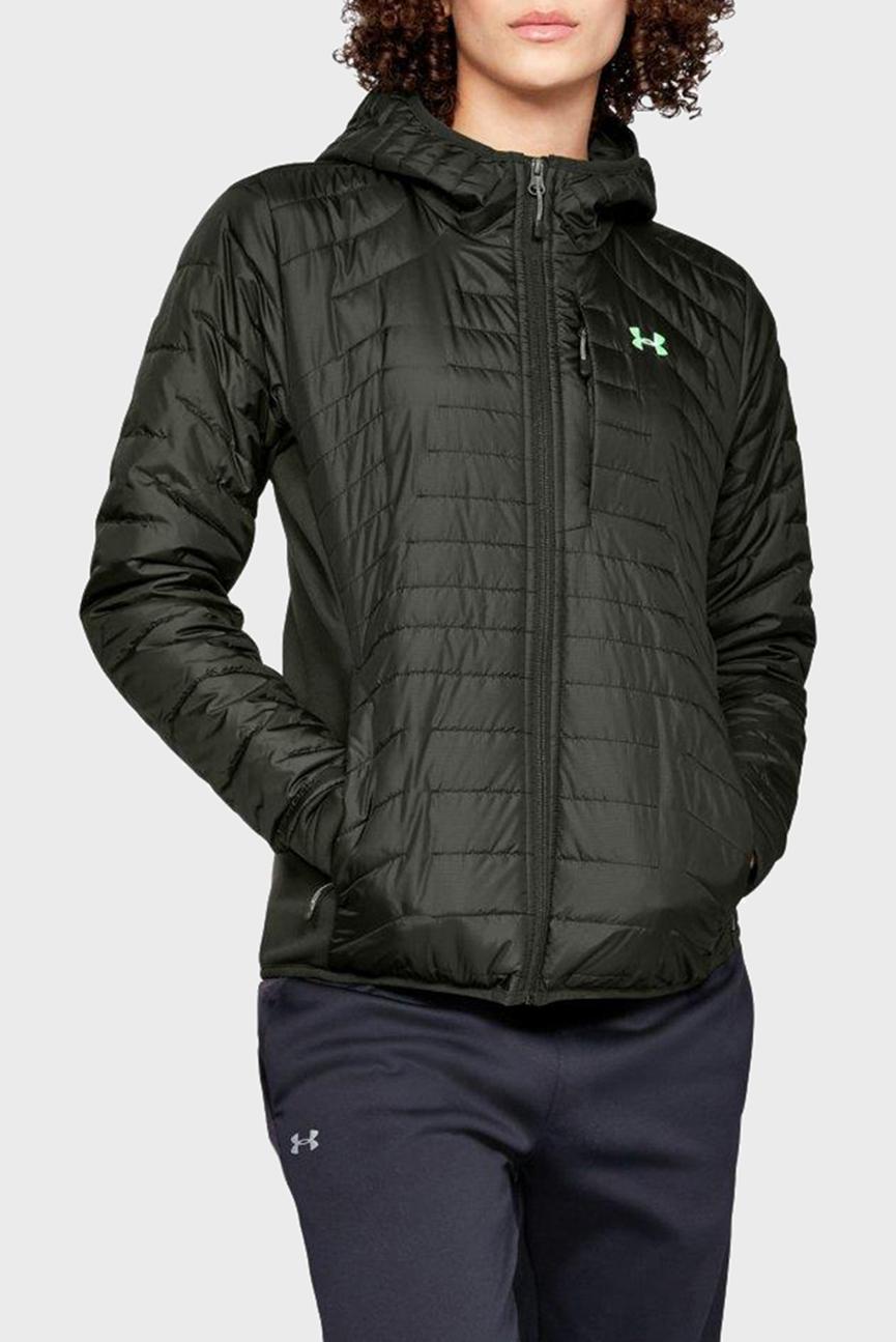 Женская зеленая куртка UA CG Reactor Hybrid Jacket