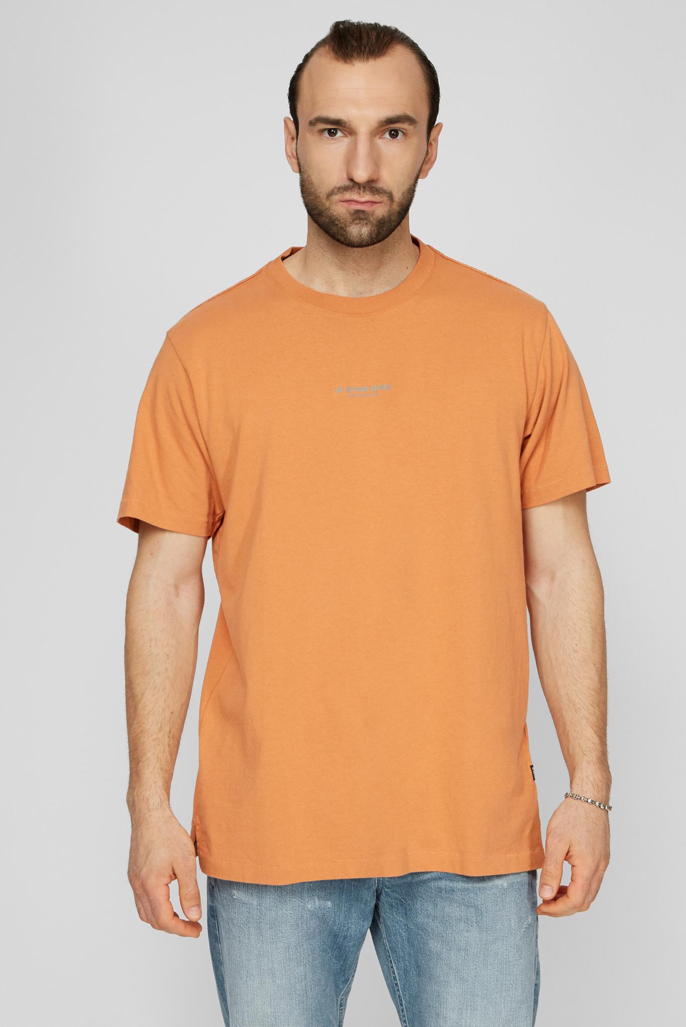 Мужская оранжевая футболка Center Chest Logo GR Loose 1