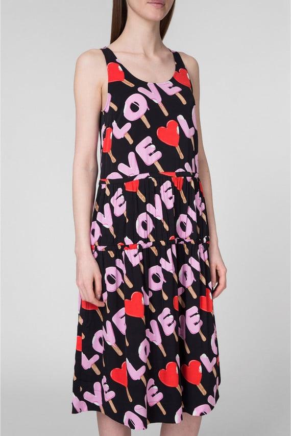 Женское платье с принтом