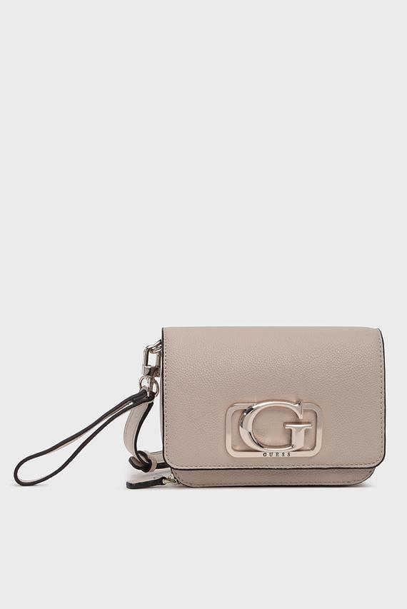 Женская бежевая сумка через плечо ANNARITA