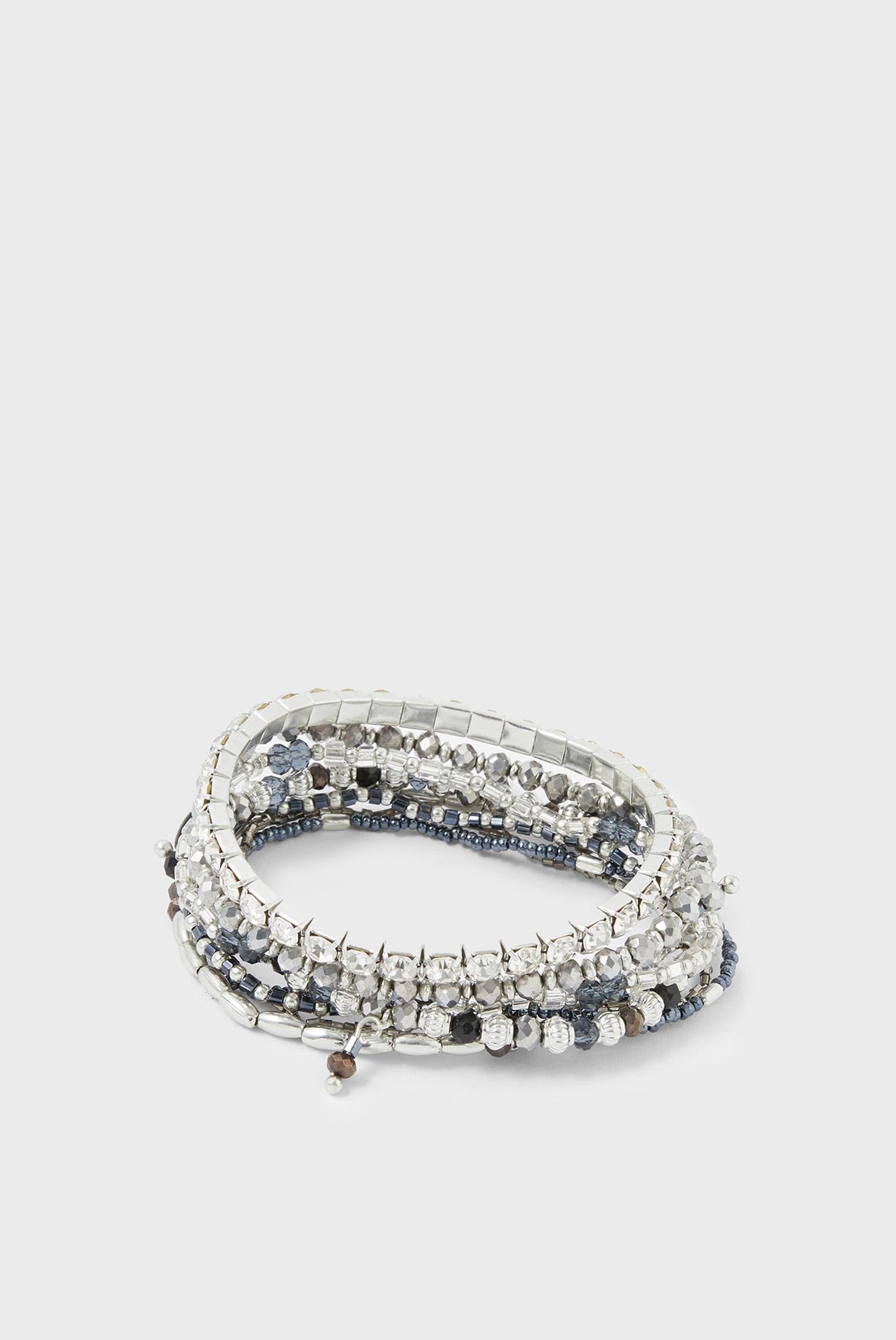 Жіночі сріблясті браслети NIKI GLASS AND SEEDB 1