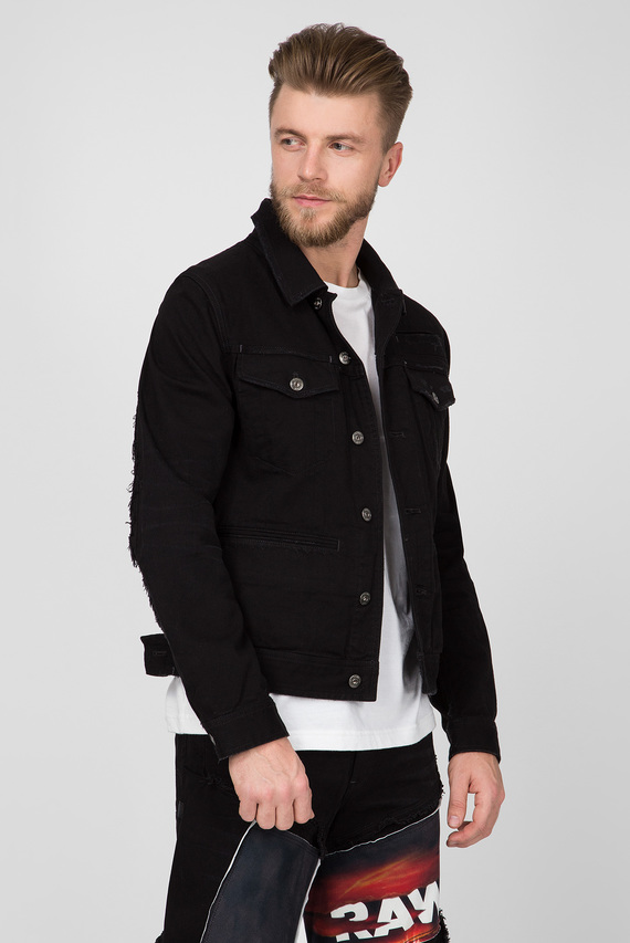 Мужская черная джинсовая куртка D-staq RFTP eclips 3D