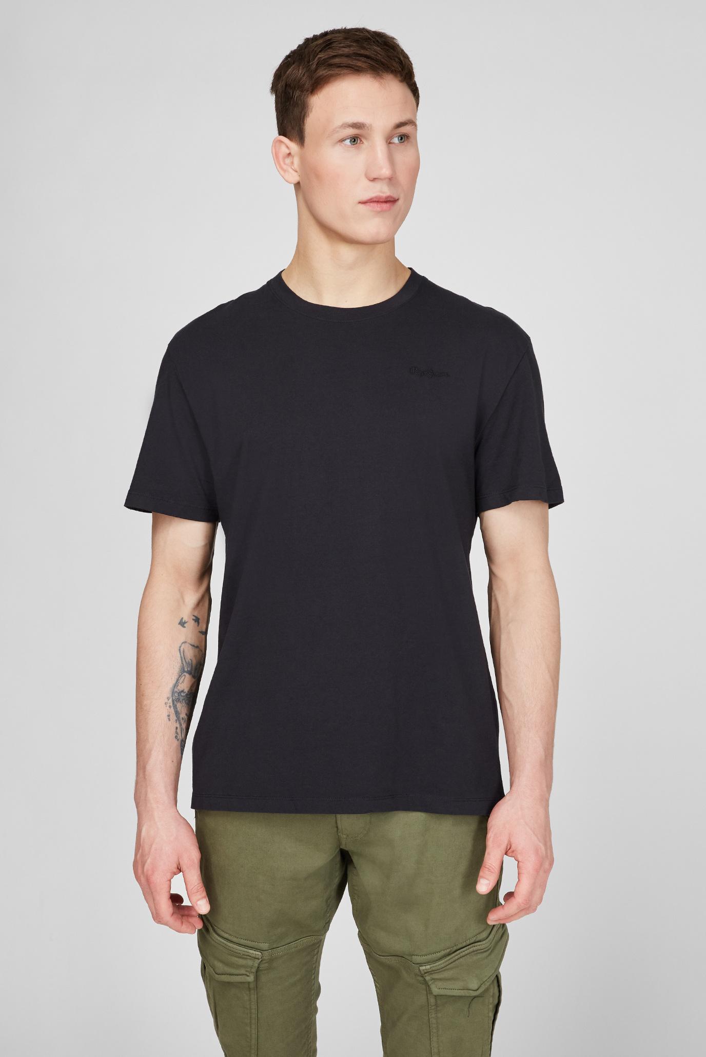 Мужская черная футболка JIM 1