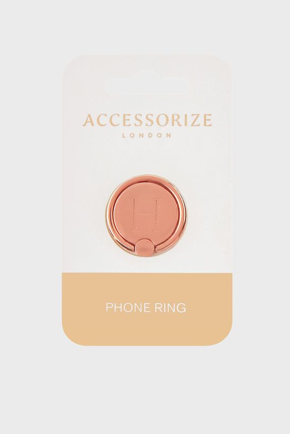 Золотистое кольцо для телефона Initial Phone Ring H
