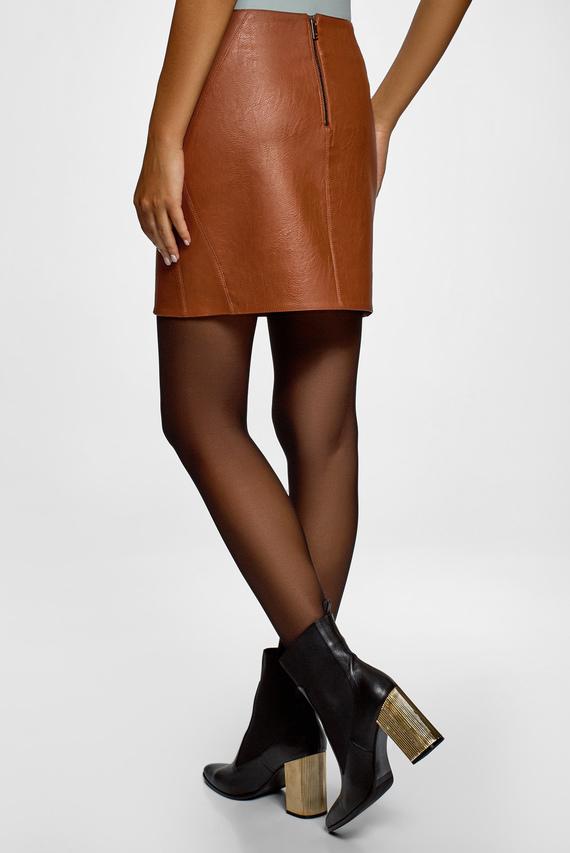 Женская коричневая юбка