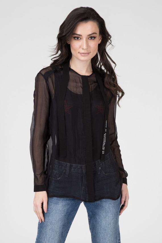 Женская черная блуза C-SAKURA-A