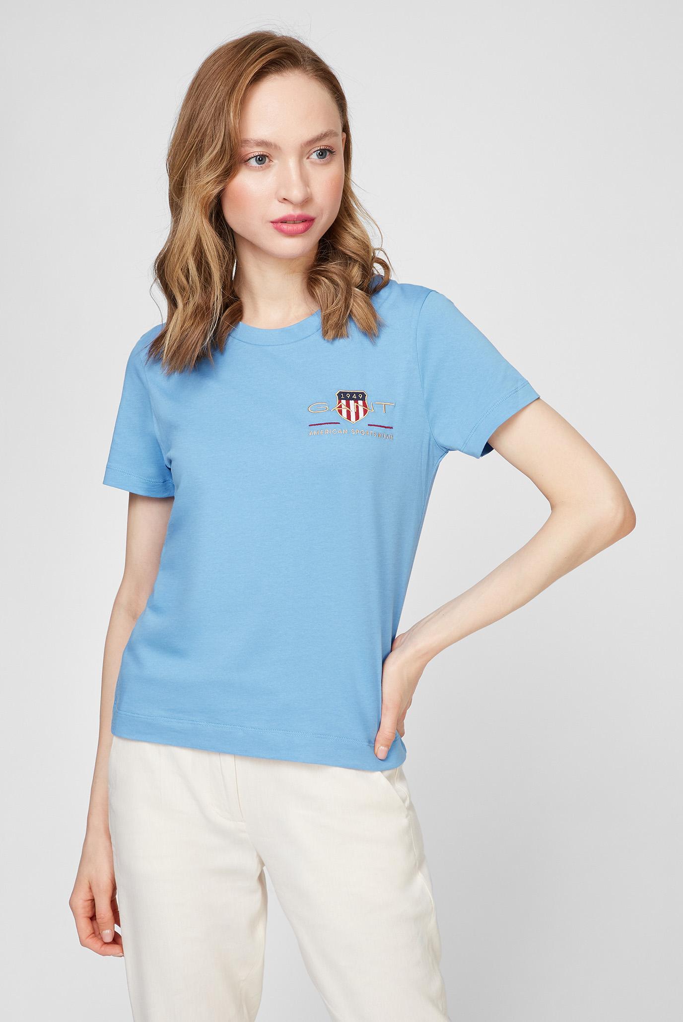 Женская голубая футболка ARCHIVE SHIELD SS 1
