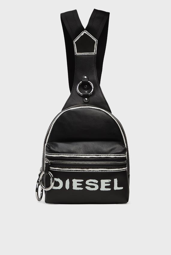 Женский черный кожаный рюкзак MISS-MATCH / ZANE'