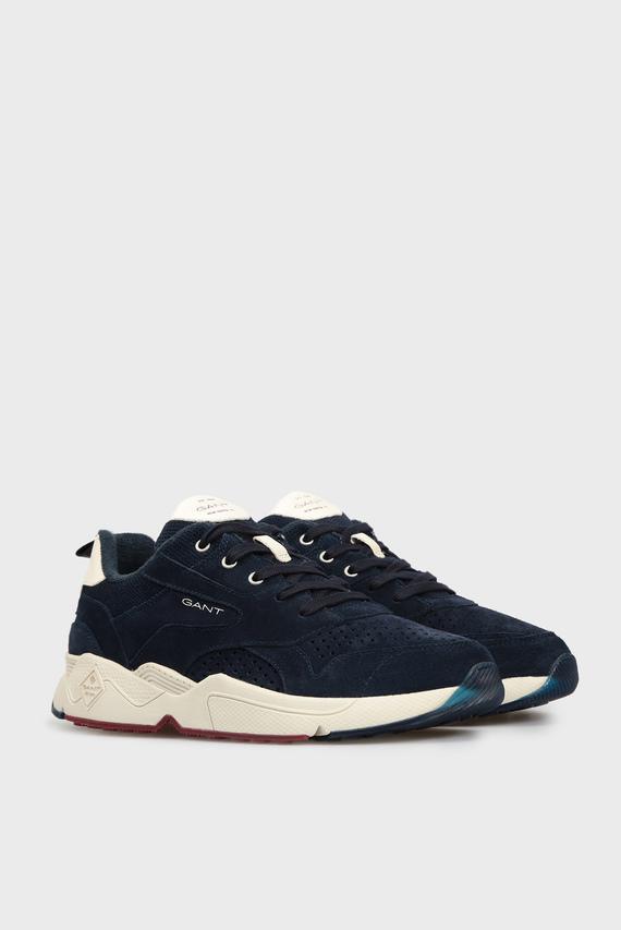 Мужские темно-синие замшевые кроссовки NICEWILL