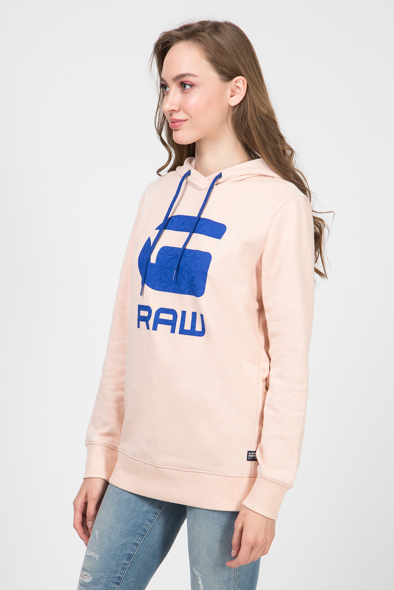 Женское розовое худи Boyfriend G-Star RAW