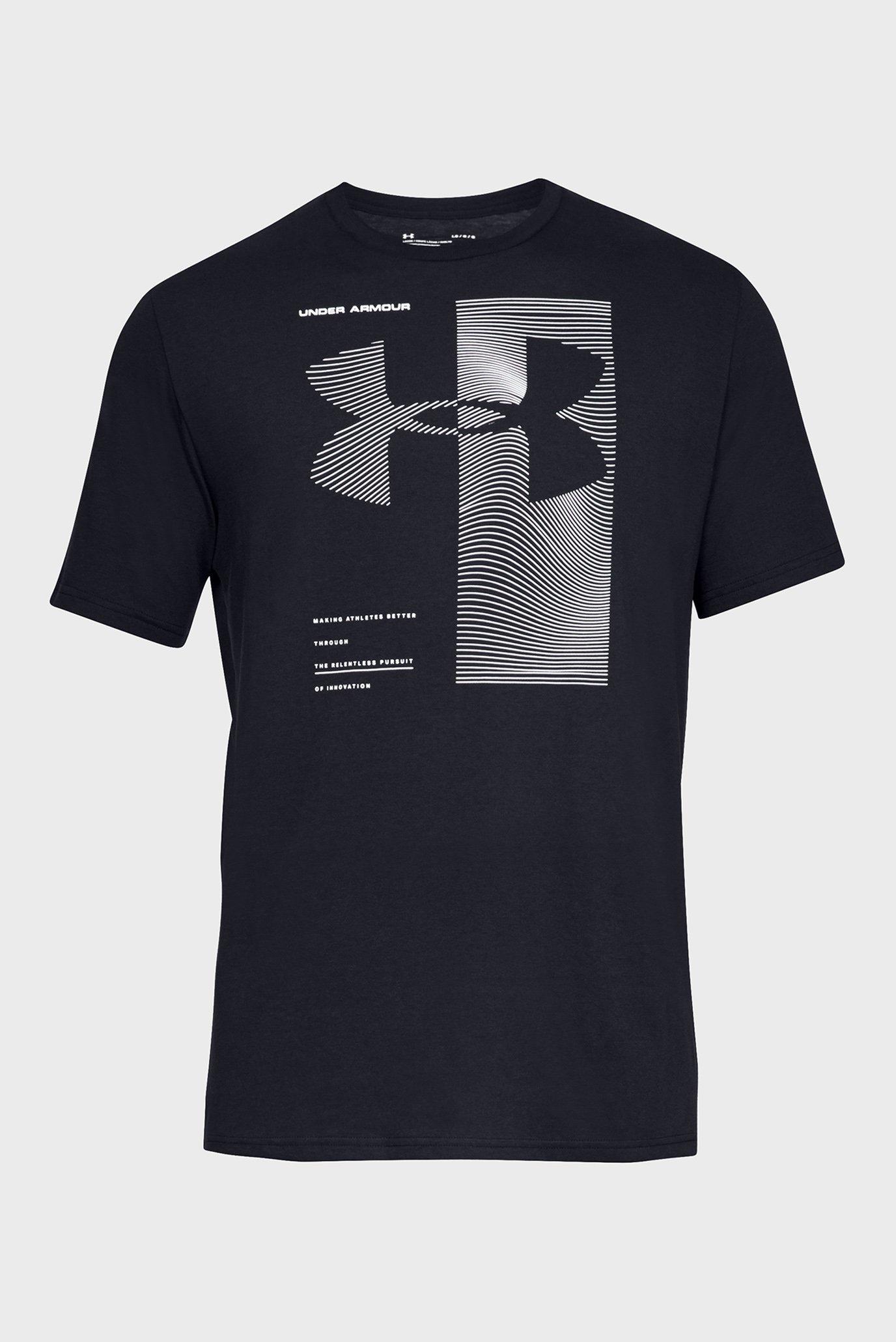 Мужская черная футболка UA TWO TONE Under Armour