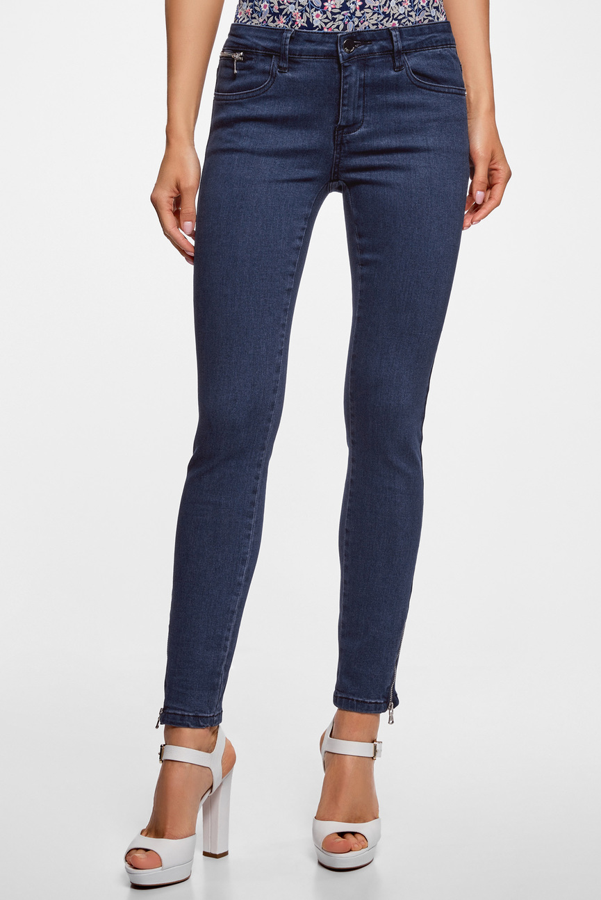 Женские темно-синие джинсы SKINNY