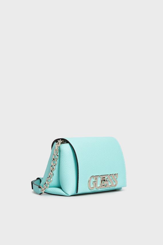 Женская голубая сумка через плечо