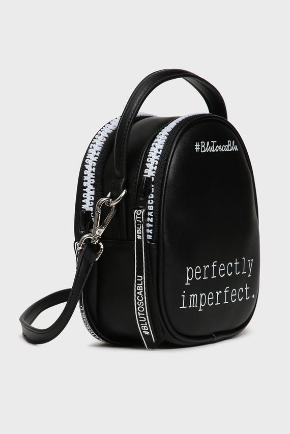 Женская черная сумка через плечо PERFECT