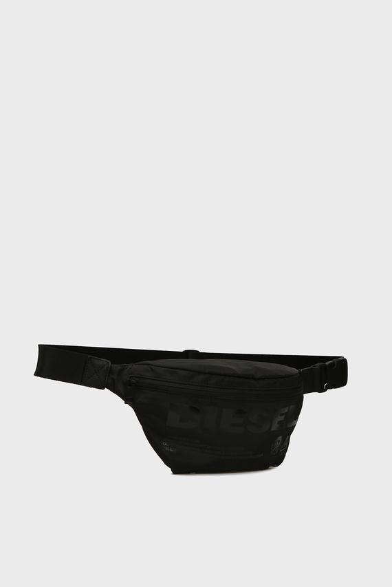 Мужская черная поясная сумка SUSEGANA