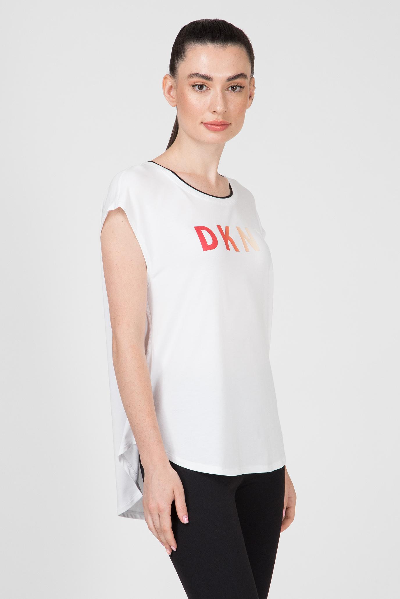 Купить Женский белый топ SLVLS TEE-RNBOW LOGO DKNY DKNY DP9T6531 – Киев, Украина. Цены в интернет магазине MD Fashion