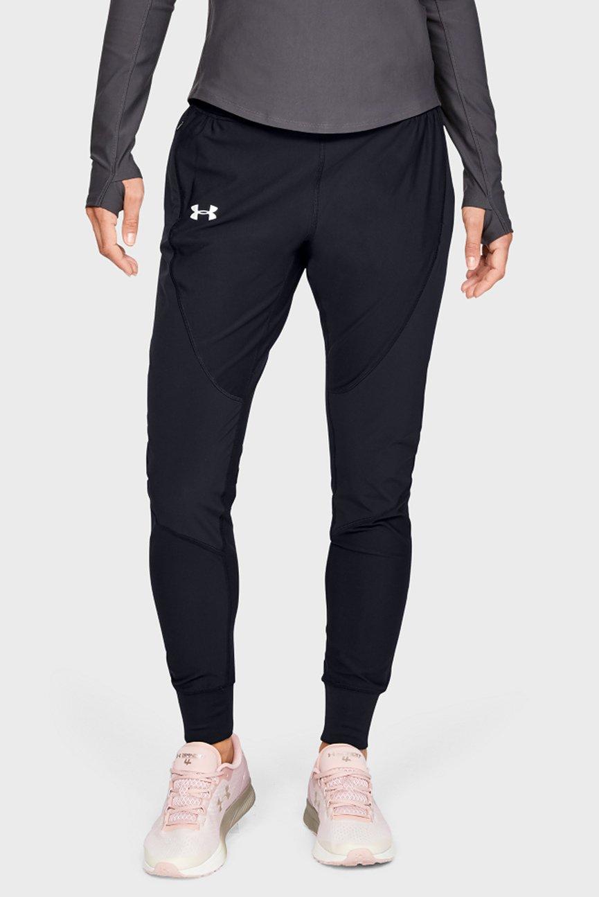 Женские черные брюки UA Qualifier SpeedPocket Pant
