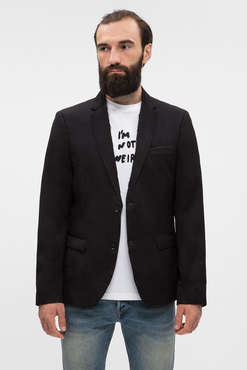 Мужской черный пиджак J-JILL-FRAM GIACCA