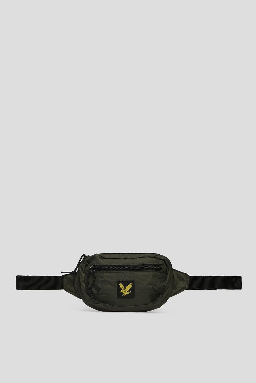 Мужская зеленая поясная сумка